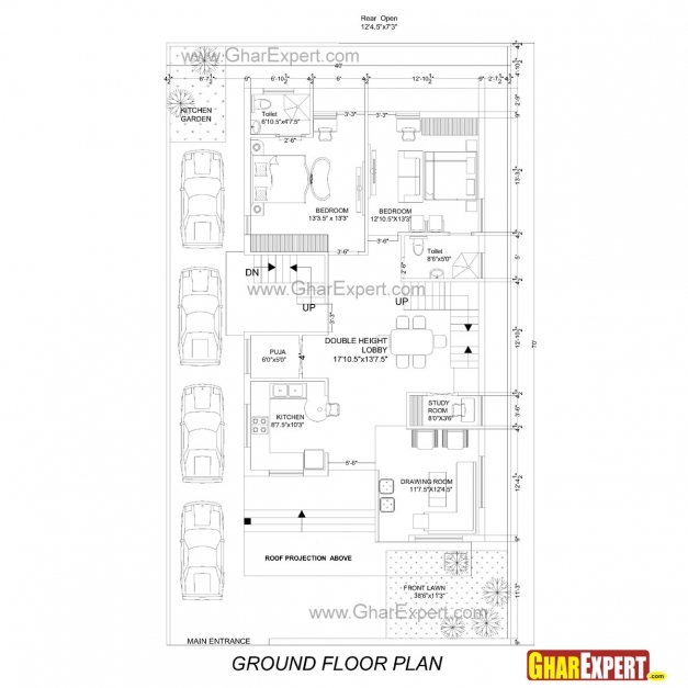 Best Scintillating House Map 15 X 30 Contemporary Plan 3d House 15*50 House Map Photos