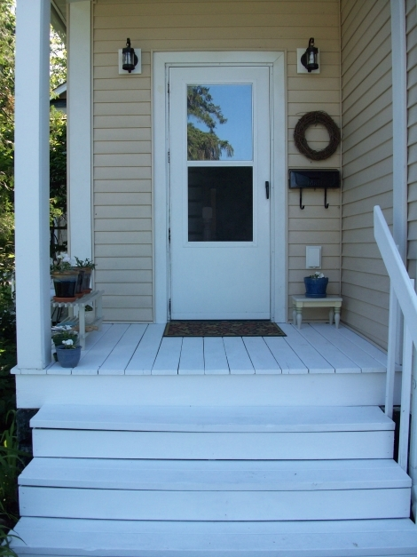 Delightful Painted Porch Appreciating Life Up North Painted Porch Ideas Pictures