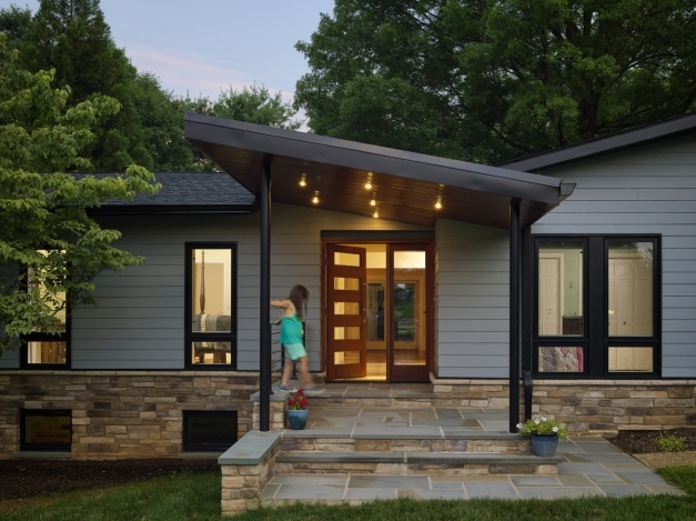 Fascinating Chic Porch Roof Styles Karenefoley Porch And Chimney Ever Modern House With Front Porch Pictures