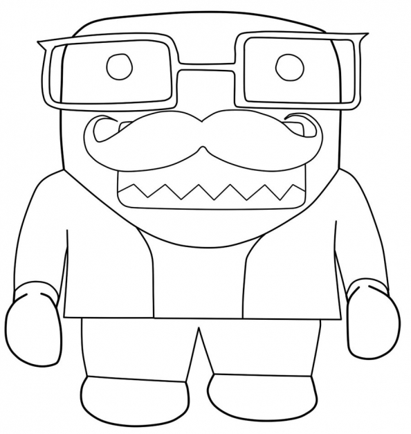 Fascinating Domo Coloring Pages Group 77 Black And White Domo Photos