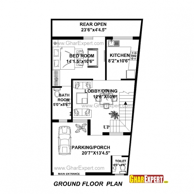 Fascinating House Plan For 22 Feet 42 Feet Plot Plot Size 103 Square Yards 15 Feet By 45 Feet House Plan Pics