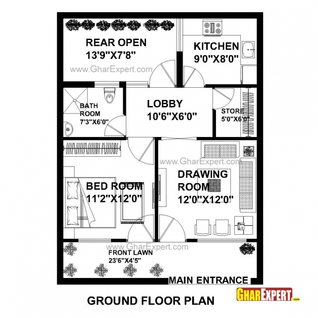 Gorgeous House Plan For 25 Feet 33 Feet Plot Plot Size 91 Square Yards House Expert Plan Pictures