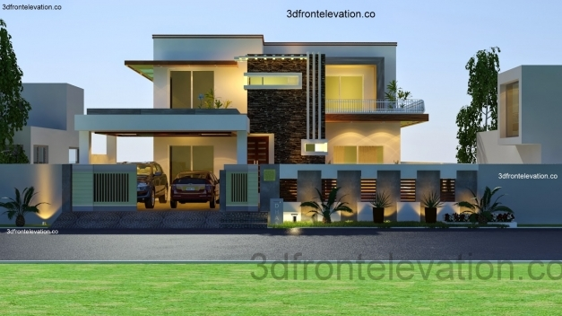 Incredible 3d Front Elevation Pakistan House Floor Plan With 3d Elevation Pictures
