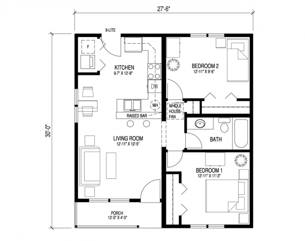 Incredible Captivating Floor Plan For Bungalow House 18 With Additional House Bungalow House Plans Picture