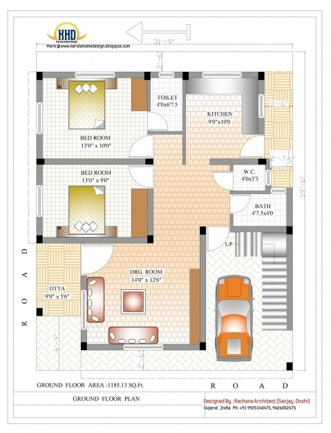Inspiring Sq Ft House Plans Bedroom Indian Style Sqft Indian Style Home Indian House Plans For 1000 Sq Ft Picture