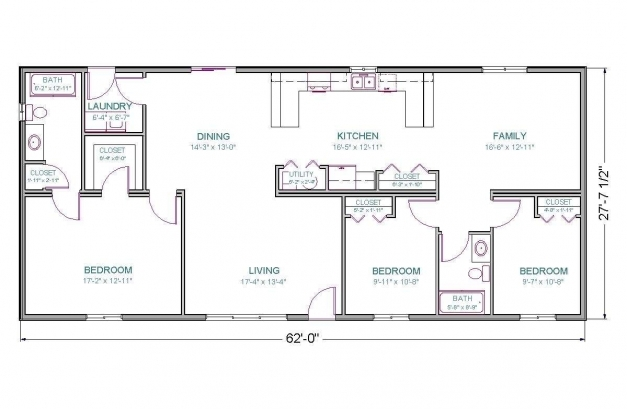 Outstanding 1700 Square Foot House Plans Ranch Homes Zone 1100 Square Feet House Plans Pics
