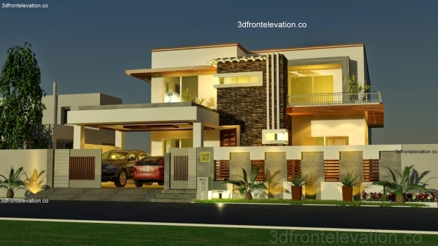 Outstanding 3d Front Elevation 1 Kanal House Plan Layout 50 X 90 3d House Floor Plan With 3d Elevation Pic