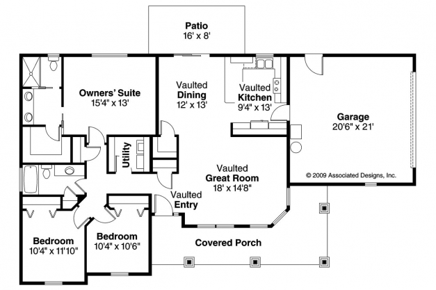 Outstanding Bungalow House Plans Strathmore 30 638 Associated Designs Bungalow House Plans Pictures