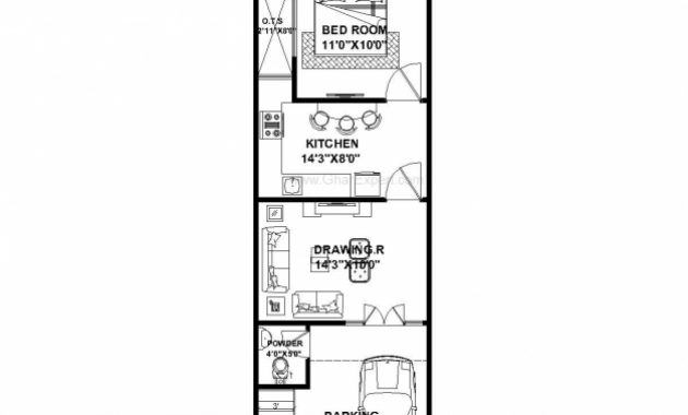 Remarkable House Plan For 15 Feet 50 Feet Plot Plot Size 83 Square Yards 15*50 House Map Image