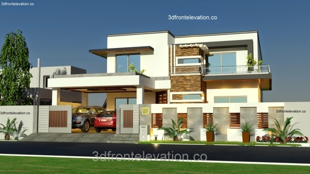 Stunning 3d Front Elevation 1 Kanal House Plan Layout 50 X 90 3d House Floor Plan With 3d Elevation Images