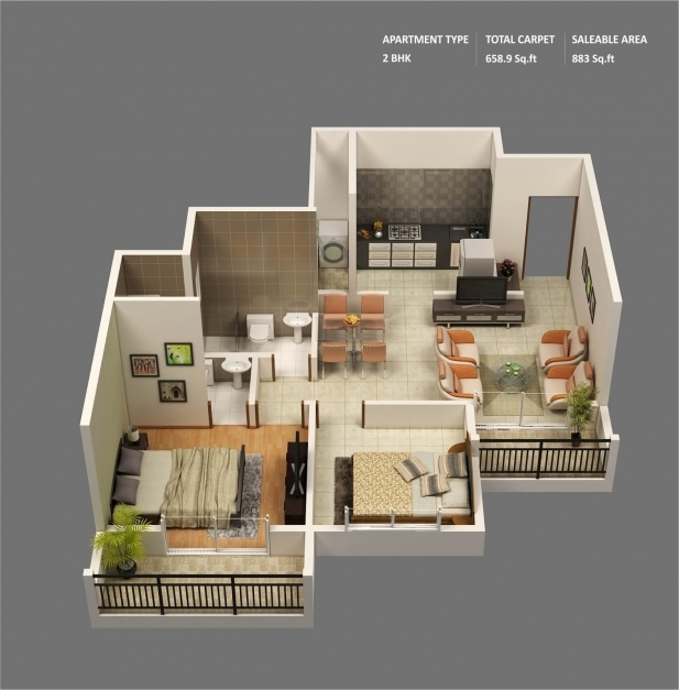 Stunning 50 3d Floor Plans Lay Out Designs For 2 Bedroom House Or Apartment 2 Bedroom House Plans Picture