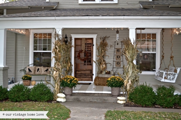 Stunning Our Vintage Home Love Fall Porch Ideas Painted Porch Ideas Images