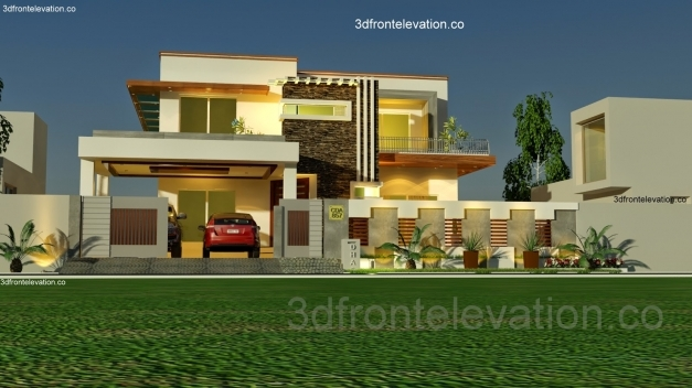 Stylish 3d Front Elevation Pakistan House Floor Plan With 3d Elevation Pics