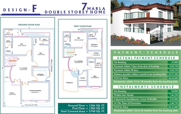 Stylish Download 20 Marla House Plan Adhome 7 Marla House Al Haram Images