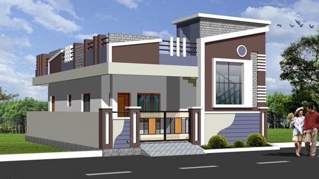 Stylish Latest Top Single Floor Home Elevations Small House Plans Single Floor House Elevation Photos Pictures