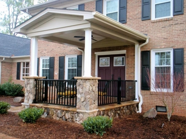 Wonderful Ba Nursery House With Front Porch Awesome Front Porch Designs Modern House With Front Porch Images