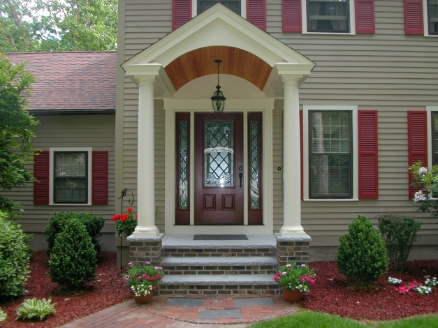 Wonderful Simple Front Porch Plans Ideas In Innovative Fancy Brick Designs Modern House With Front Porch Photo