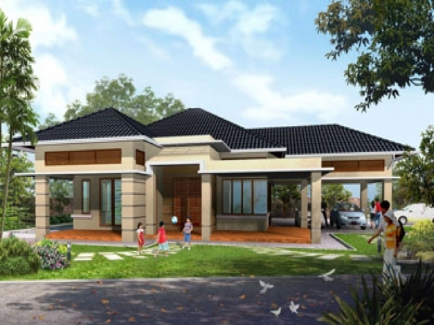 Inspiring Home Design 79 Awesome Single Story House Planss One Story House Design Pictures Pic