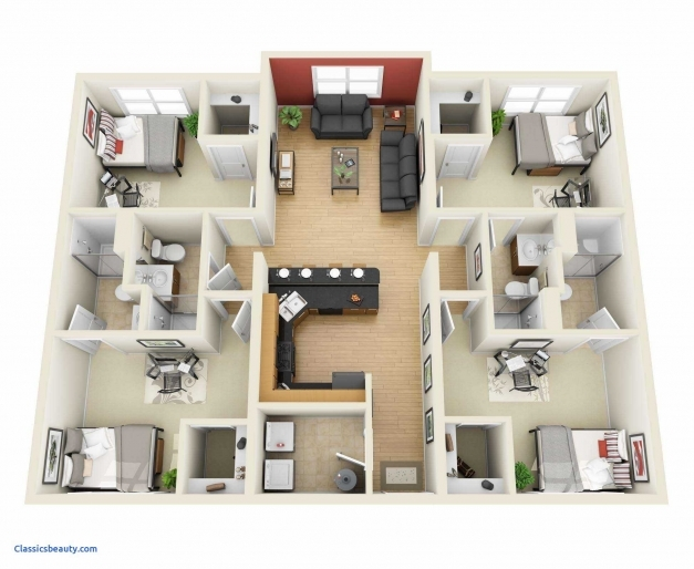 Outstanding 4 Bedroom Houses Plan 3d Pictures House Plans Lovely A This Is Of 3d 4 Bedroom House Plans Images