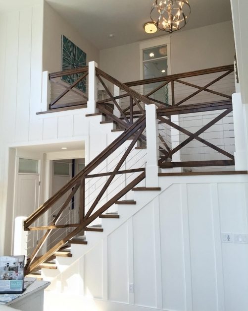 Remarkable Such A Cool Hand Railing I Love How They Used The Cables To Keep Indoor Stair Railing Ideas Picture