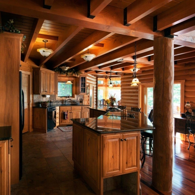 Stunning Rustic Kitchens Design Ideas Tips Inspiration Log Cabin Kitchen Pictures Pics