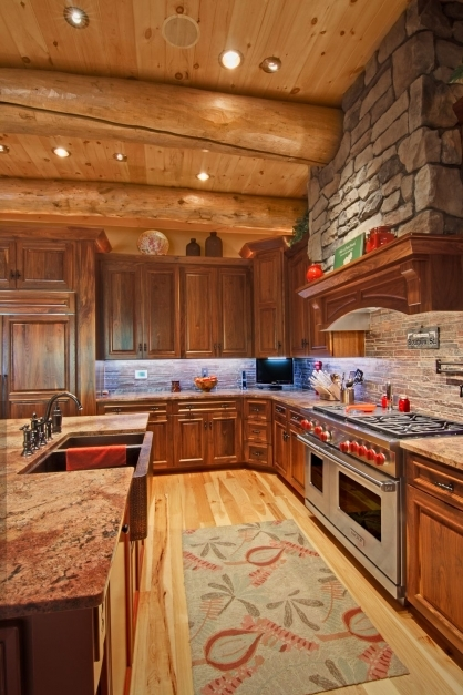 Stylish Photos Log Cabins Custom Design And Cabin Log Cabin Kitchen Pictures Pic