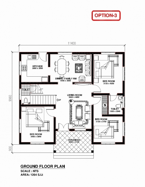 Wonderful Free Kerala Home Plans Fresh 13 3 Bedroom House Plans With S In Kerala Free 3 Bedrooms Ground Floor Plans Images