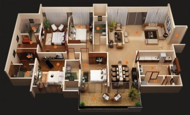 Outstanding Simple House Plan With 6 Bedrooms 3d House Plan Ideas 6 Bedroom House Plans 3d Pictures