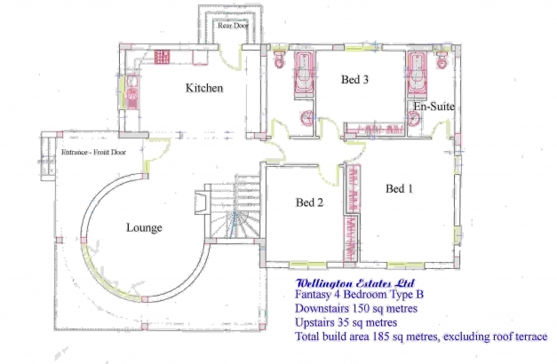 Awesome 4 Bedroom Bungalow Floor Plan Four Bedroom Bungalow Floor Plans In Floor Plan Nigeria Photo