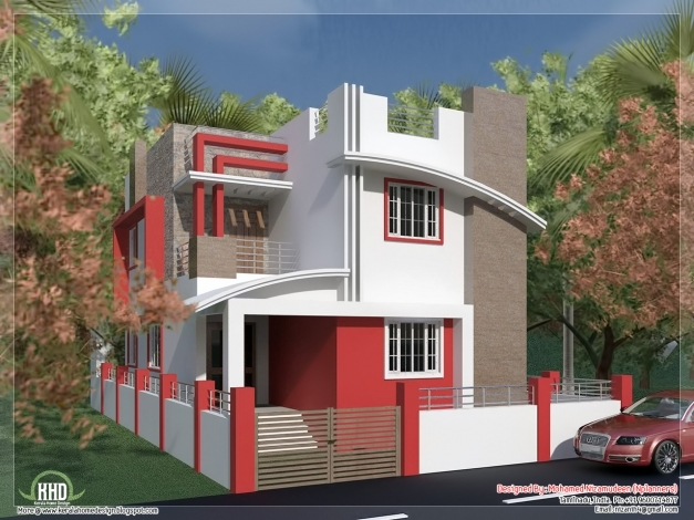 Awesome South Indian Villa In 1375 Sqfeet Kerala Home Design 750 Sft Building Elevation Images Com Pic