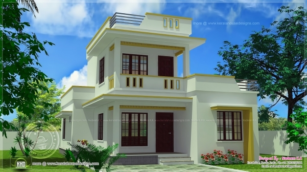 Delightful Simple Flat Roof Home Design Feet Kerala Home Building Plans 45518 Simple House Gallery Pictures
