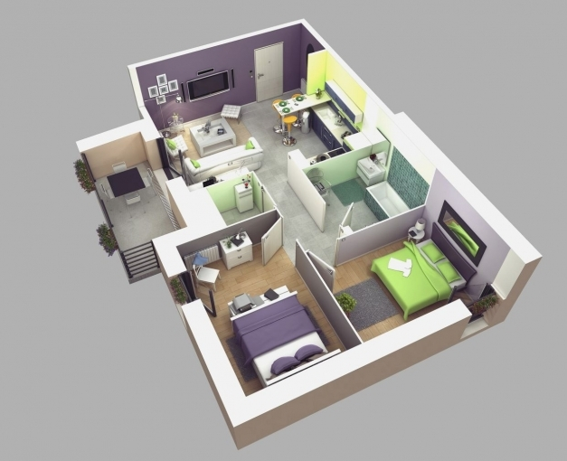 Delightful Special Small House Open Floor Plan Small Houses Simple 2 Story 4 Bedroom House Plans 3d Images