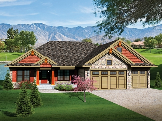Fascinating Wonderful Ranch House Plans With 3 Car Garage House Design And 3 Car Garage Ranch House Plans Photo