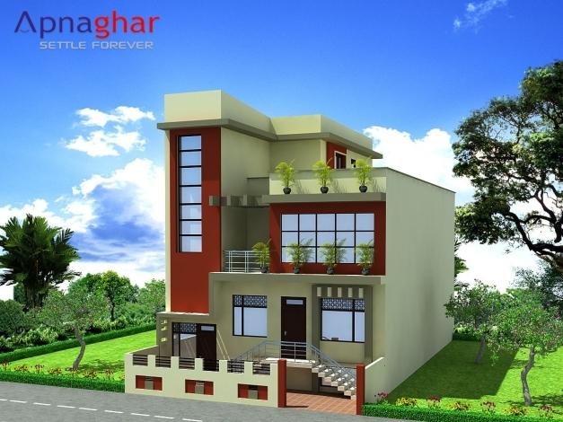 Incredible 3d Elevation Triplex House Design Giving Proper Perspective Of House House Plans Floor And Elevation In 3d Images