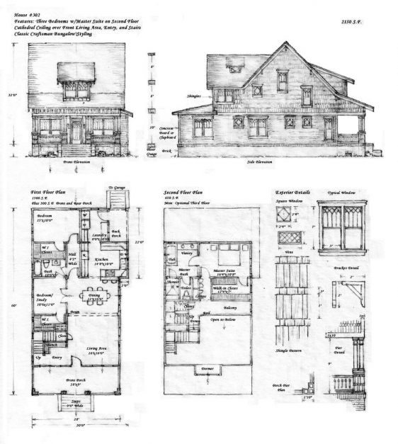 Inspiring House 302 Craftsman Bungalow Built4ever On Deviantart Plan Elevation Section Of Bungalow Pictures