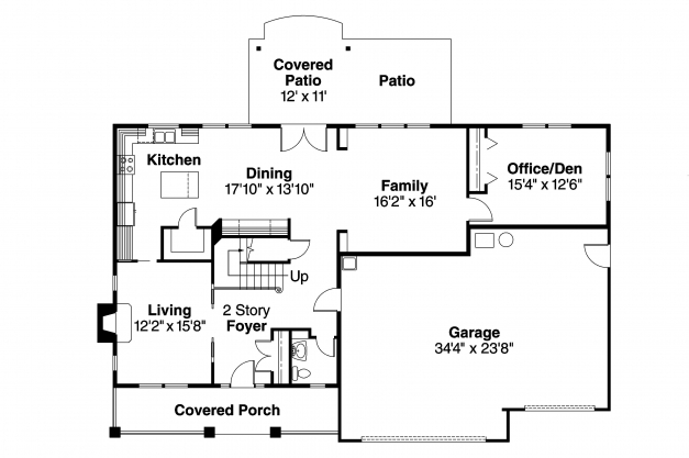 Outstanding Bungalow House Plans Cavanaugh 30 490 Associated Designs Plan Elevation Section Of Bungalow Photo