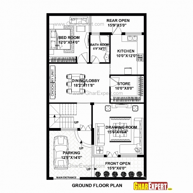 Remarkable 30 X 50 Square Feet House Plan New House Plans Less Than 500 Sq Ft House Plan 15×50 Pics