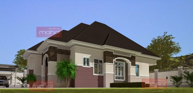 Stylish Contemporary Nigerian Residential Architecture 3 Bedroom Bungalow Photos Of Three Bedroom Flat Plan In Nigeria Picture