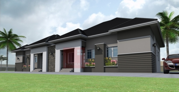 Awesome Contemporary Nigerian Residential Architecture 3 Bedroom Semi Nigerian Three Bedroom Photo