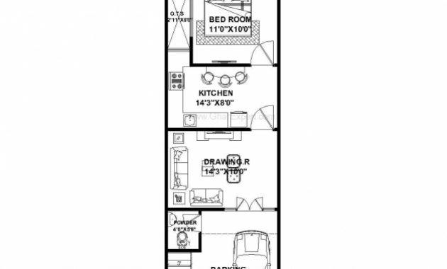 Gorgeous House Plan For 15 Feet 50 Feet Plot Plot Size 83 Square Yards 15*50 House Plans Pic