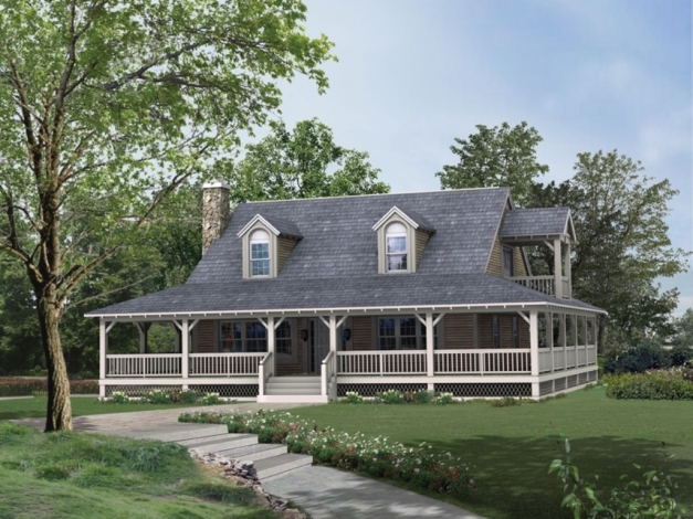 Stunning Architectures Single Story House With Wrap Around Porch Home Free House Plans With Wrap Around Porch Image