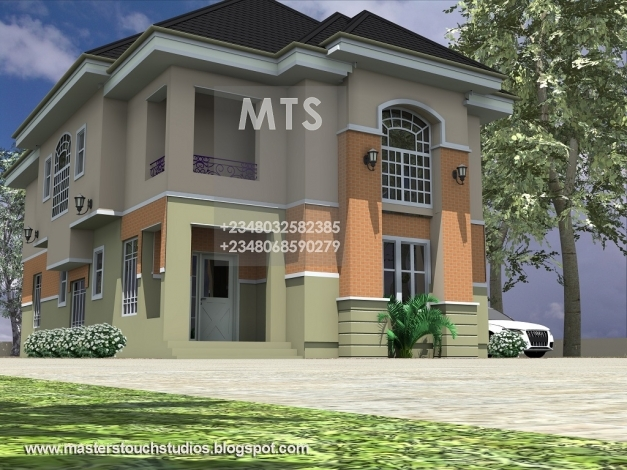 Stylish Mrs Ifeoma 4 Bedroom Duplex Residential Homes And Public Designs Modern Duplex House Plans In Nigeria Photo