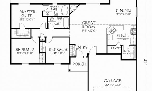 Best Open Floor House Plans One Story Beautiful Open Floor Plans For Open Floor House Plans One Story Photo