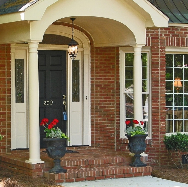 Incredible Front Porch Gorgeous Front Porch Decoration With Red Brick Wall And Brick Front Porch Picture