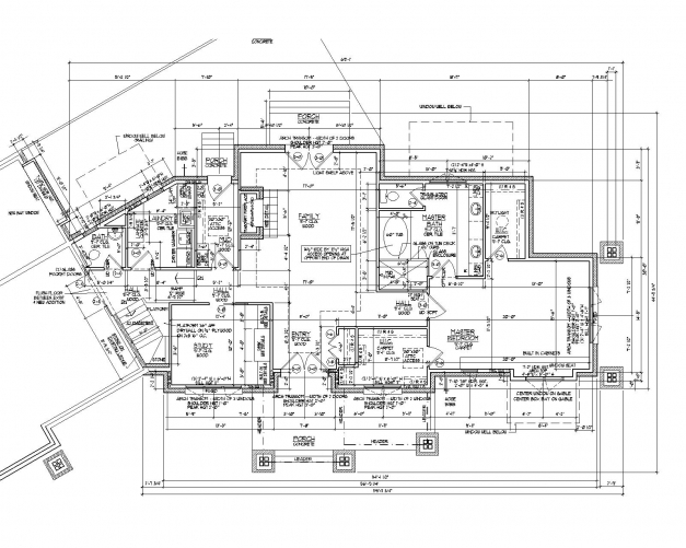 Wonderful 2d Autocad House Plans Residential Building Drawings Cad Services 2d Plan For Residential Building Images