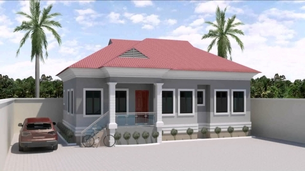 Awesome 3 Bedroom Bungalow House Designs In Nigeria Youtube 3bedrooms Flat Elevation Photos