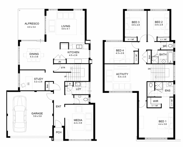 Awesome Two Storey House Floor Plan Designs Samples Modern Pl On Sample Floor Plan Samples For 2 Storey House Pics