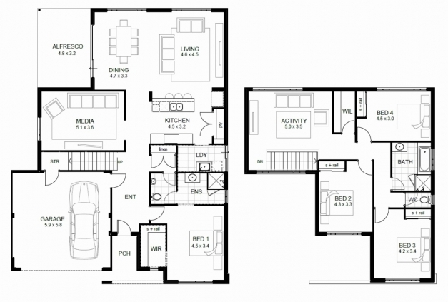 Delightful Sample House Plans 2 Two Storey Plan With Dimensions New Luxury Floor Plan Samples For 2 Storey House Photos