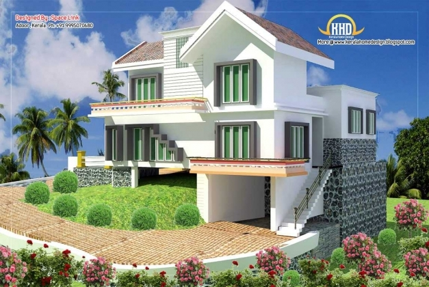 Incredible Double Storey Home Designs Sq Ft Kerala Collection And 1500 Sqft Images For Double Storied 1500 Sq Feet Banglows Picture