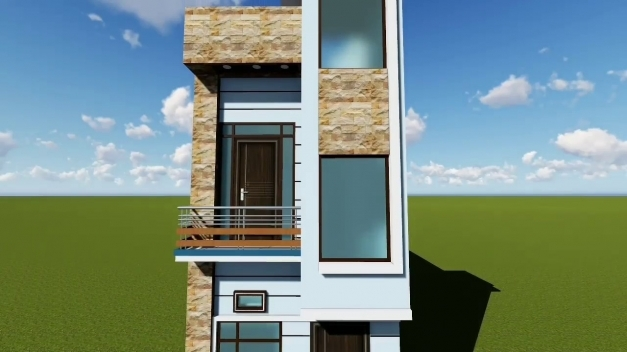 Inspiring 12 Feet Front Elevation Youtube Home Elevation 15*50 Photos